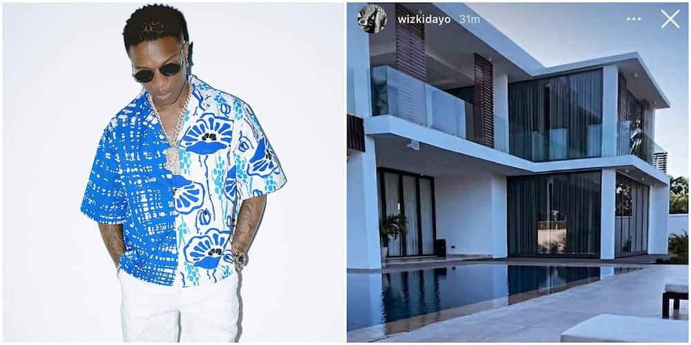 It's Simply Beautiful, Fans in Awe As They Get Rare Full View of Wizkid's Classy Residence in Ghana