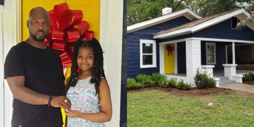 PHOTOS: Great joy as Black father gifts his daughter luxurious house for her 13th birthday