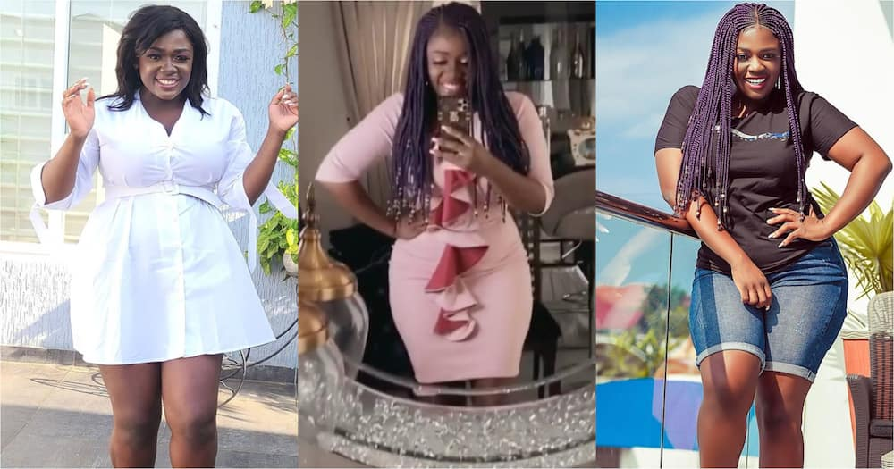 Tracey Boakye's daughter smiles displaying dimple; celebs gush over cuteness (video)