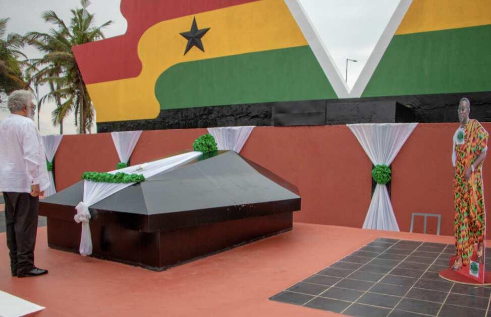 Rawlings, Koku Anyidoho commemorate Atta Mills at Asomdwee Park