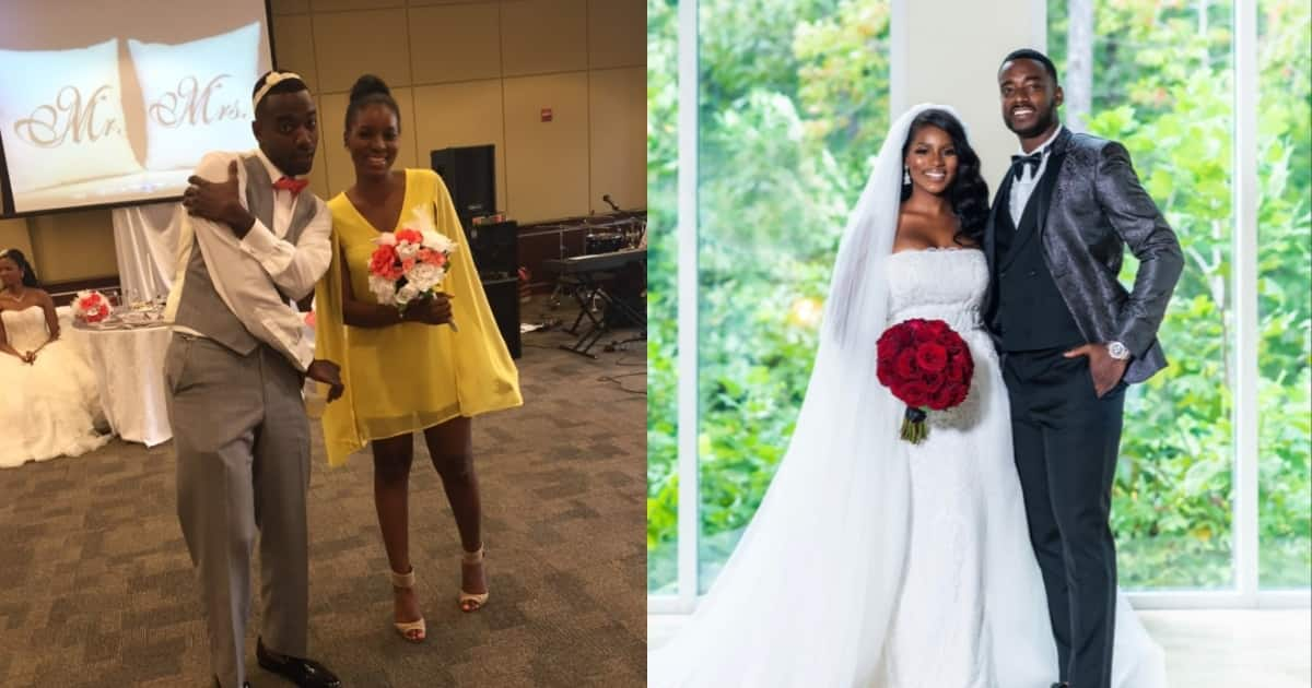 Strangers who caught bouquet and garter at wedding now married 5 years later (Photos)