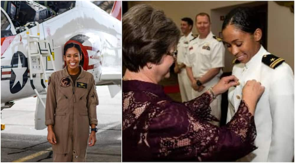 Lt. j.g. Swegle: US Navy's first Black female tactical jet pilot receives her 'Wings of Gold' (photos)
