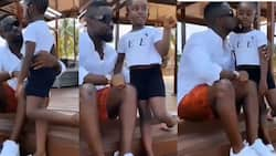 Sarkodie and Titi warm hearts with their outing in latest video; he listens to her kid stories