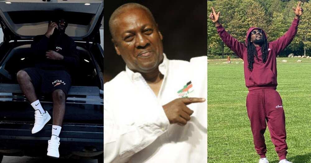 John Mahama reacts after Sarkodie and Samini endorsed Akufo-Addo