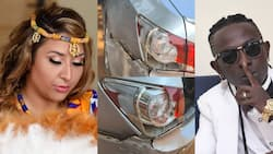 Just in: Patapaa and wife Liha Miller involved in an accident; photos and video drop