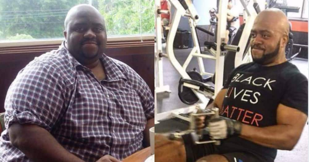 Do not give up - Man says as he shares amazing transformation weight loss photos, stirs mixed reactions