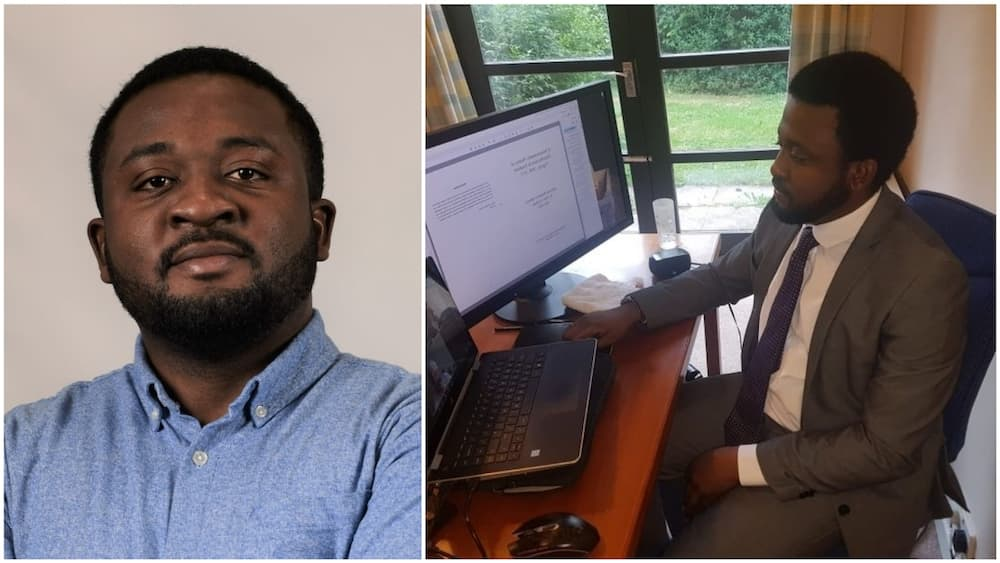 The man graduated from the University of Cambridge in absentia due to the pandemic. Photo source: LinkedIn/Damilola Adebayo
