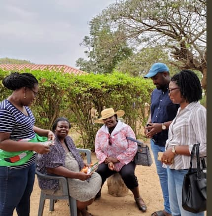 Dumelo, Oye Lithur on a house-to-house to campaign for the NDC's candidate ahead of the Ayawaso West Wuogon by-election