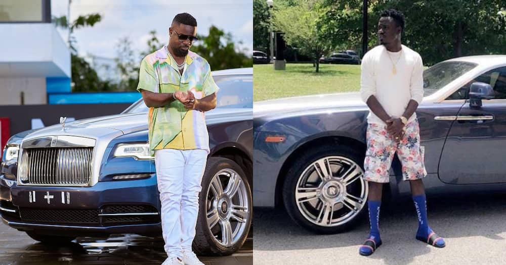 Owner of Rolls Royce Sarkodie posed with speaks out