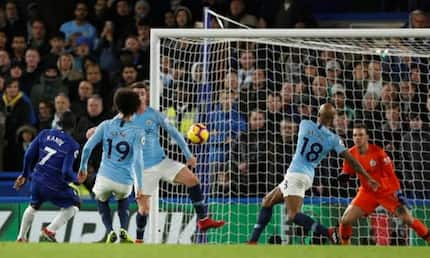 Kante, David Luiz score as Chelsea end Man City unbeaten run in the Premier League