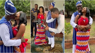 Bright Nana Amfoh: First photos pop up as TV3 presenter marries in traditional wedding