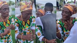 Video of old lady's energetic dance to Gyakie's song at her grandson's wedding warms hearts