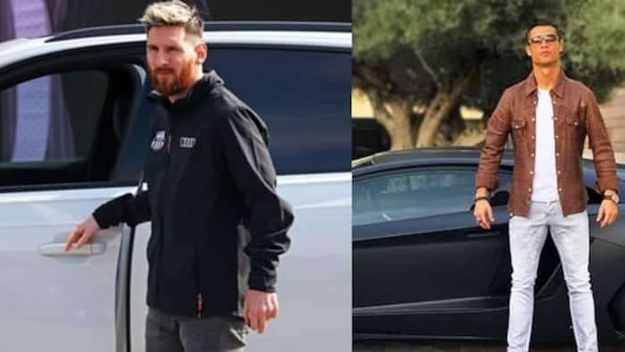 Ronaldo's £8m luxury car collection is worth 3x that of Messi ( See photos)