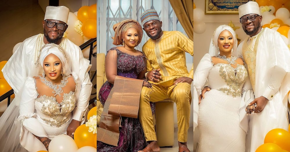 Fatau Dauda flaunts his beautiful newly-wedded wife in fresh photo