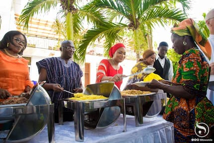 Bawumia and wife host 100 cured lepers to a feast