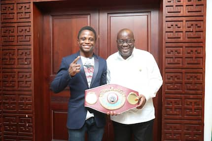 Akufo-Addo consoles and encourages Dogboe
