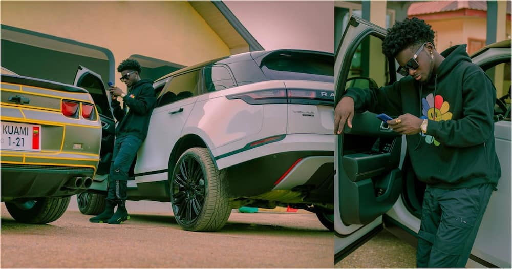 Kuami Eugene Shows Off His Range Rover And Other Cars (Photo)