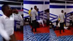 Sad video drops as Ghanaian pastor dies while actively preaching in church; members caught unaware