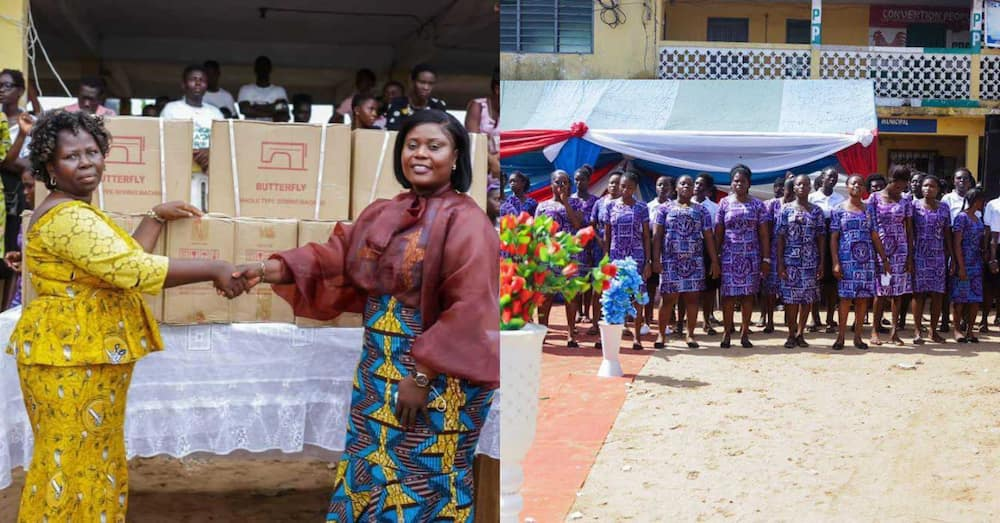 Dorcas Affo Toffey: Fantana's mum & MP for Jomoro Donates 20 Sewing Machines to Tailors & Dressmakers