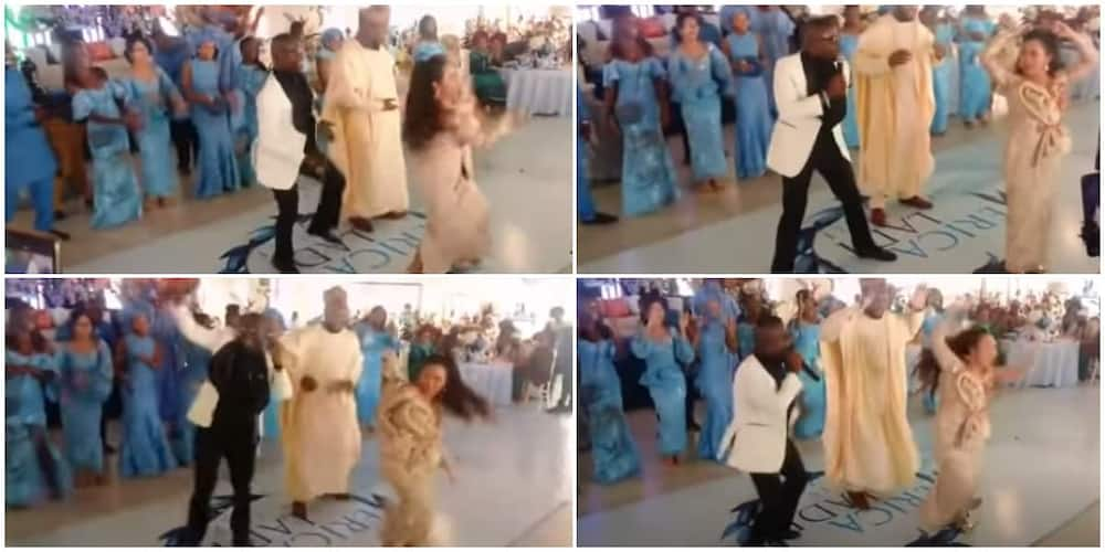 Asian bride causes stir at her wedding to Edo man as she does legwork in cute video