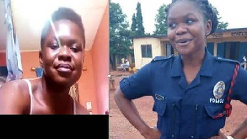 Female police officer finally reacts to her 'atopa' leaked tape