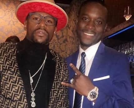 Richest Ghanaian kid in Tokyo hosts Floyd Mayweather in his plush club to talk business
