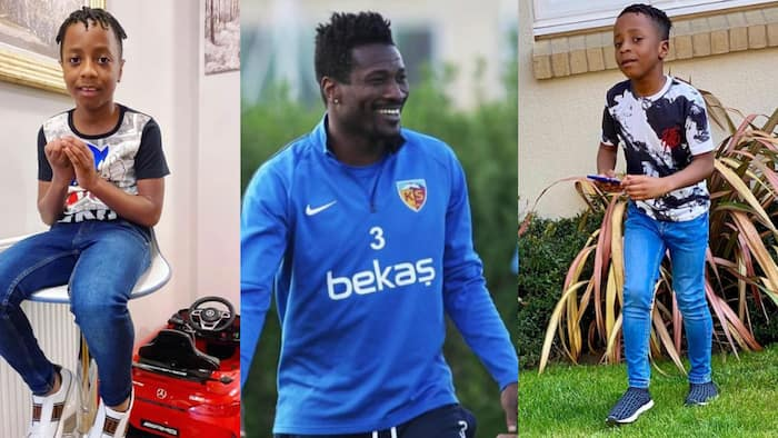6 photos of Asamoah Gyan's second son Raphael who is fashionable and handsome with dreadlocks