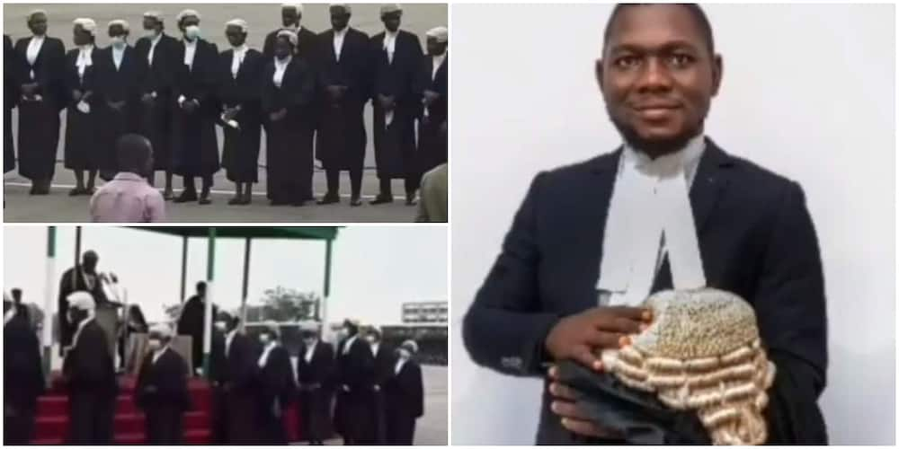 Joy as visually impaired man bags special prize for graduating from Nigerian Law School outstandingly