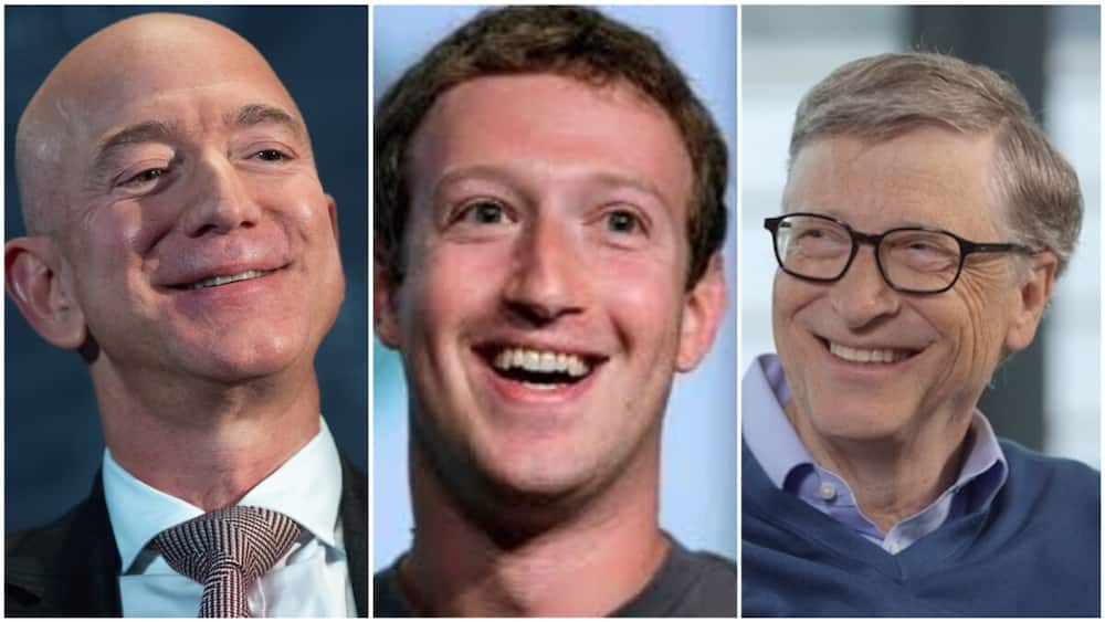 A collage of the three world's richest men. Photo source: Bloomberg
