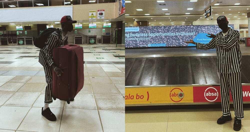 Goodbye Nigeria -Young man says as he leaves to seek greener pasture in Ghana