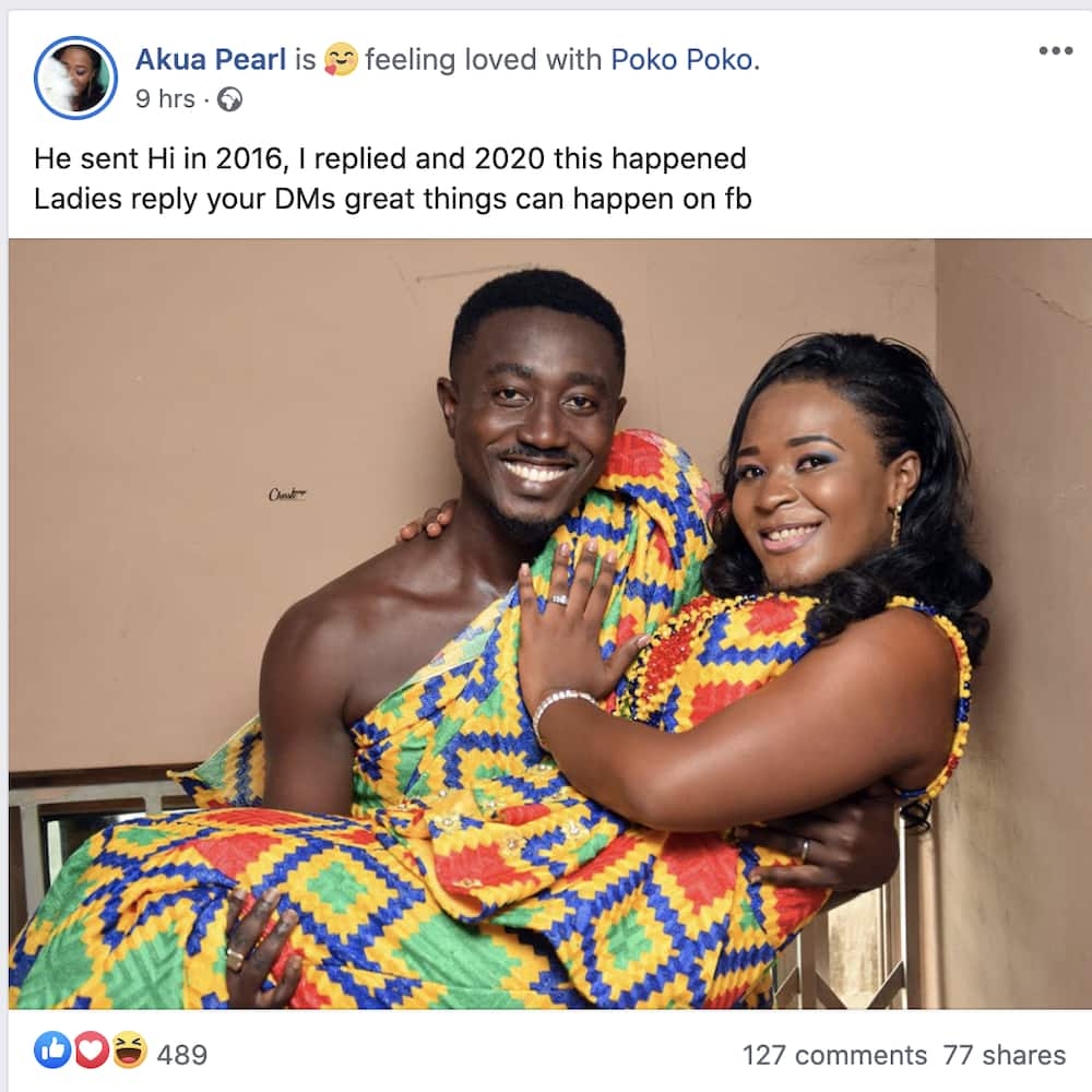 He sent me 'hi' in 2016, I replied & now see us - Pretty Ghanaian lady