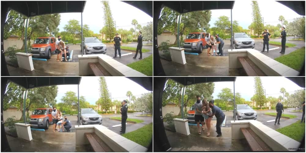 Doorbell Camera Captures Woman Giving Birth While Standing in Parking Lot