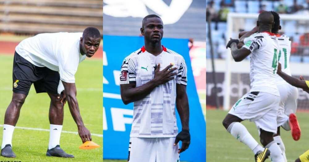 Jonathan Mensah in action for Ghana. SOURCE: Twitter/ @Team_GhanaMen