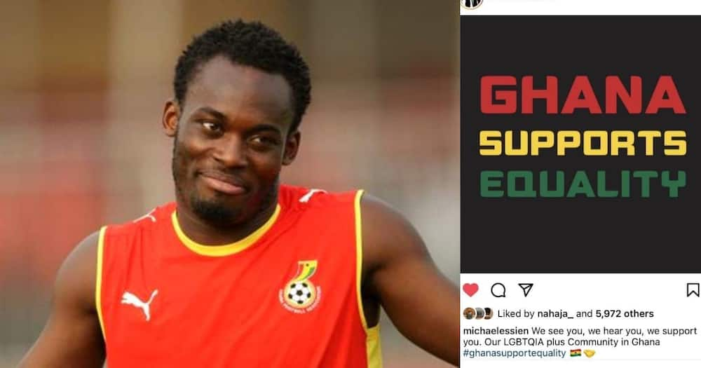 Michael Essien: Ghanaians insults for Black Stars midfielder for supporting gay rights in Ghana