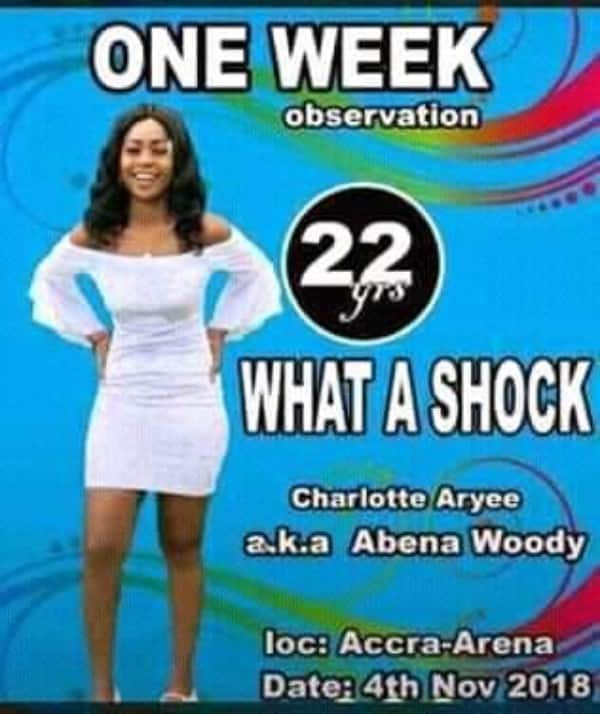 Photo: Charlotte Abena Woodey's poster pops up