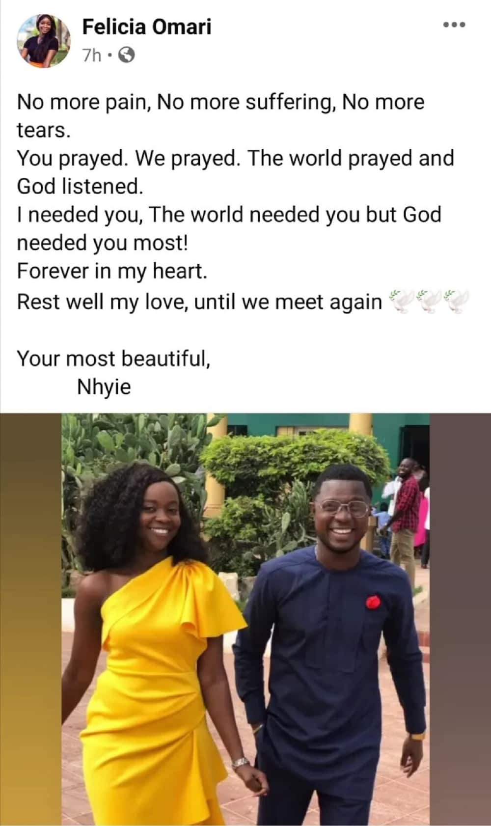 Ray Style's fiancée speaks on his death; pens down touching message