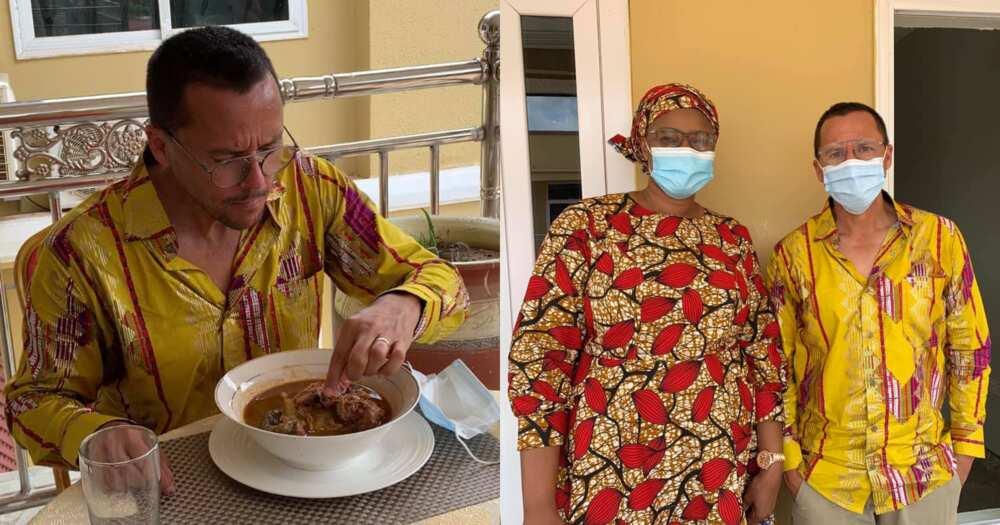 Gregory Andrews: Australian High Commissioner eats fufu