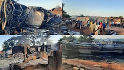 Tears flow as two-year-old boy & 2 others perish as fuel tanker explodes in Ashanti region (photos)