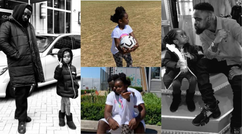 Sarkodie and daughter step out in grand style (Photo)