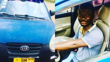 Honest Ghanaian taxi driver returns phone after passenger left it in his car; gets massive praises