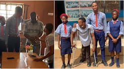 Physically disabled man pays school fees of 3 kids whose mum is battling cancer