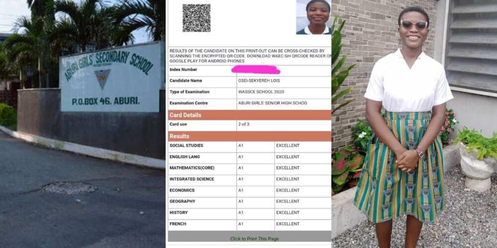 Free SHS results: Aburi Girls student who won National Digital Writing Challenge gets 8As