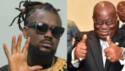 Akufo-Addo joins others to celebrate Samini on his 39th birthday