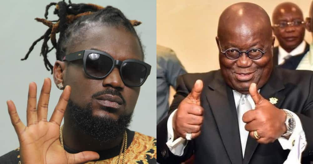 Samini declares support for Akufo-Addo; urges Ghanaians to vote for him