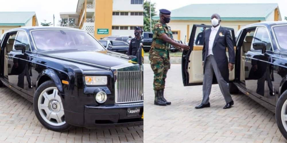 Beautiful photos of Otumfuo pop up as he storms event in luxury Rolls Royce (photos)