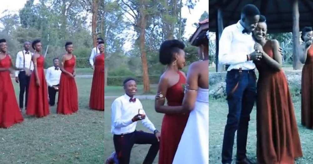 Groomsman, proposes, bridesmaid, friend's wedding, Pls export