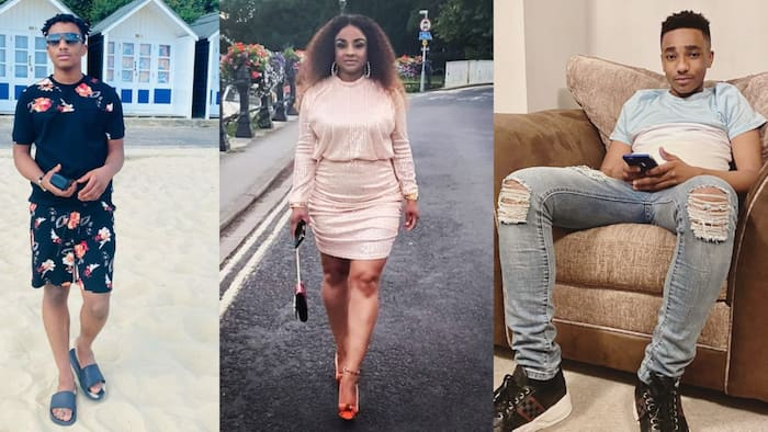 Asamoah Gyan's wife spoils their son with getaway in new photo; her birthday message to him warms hearts