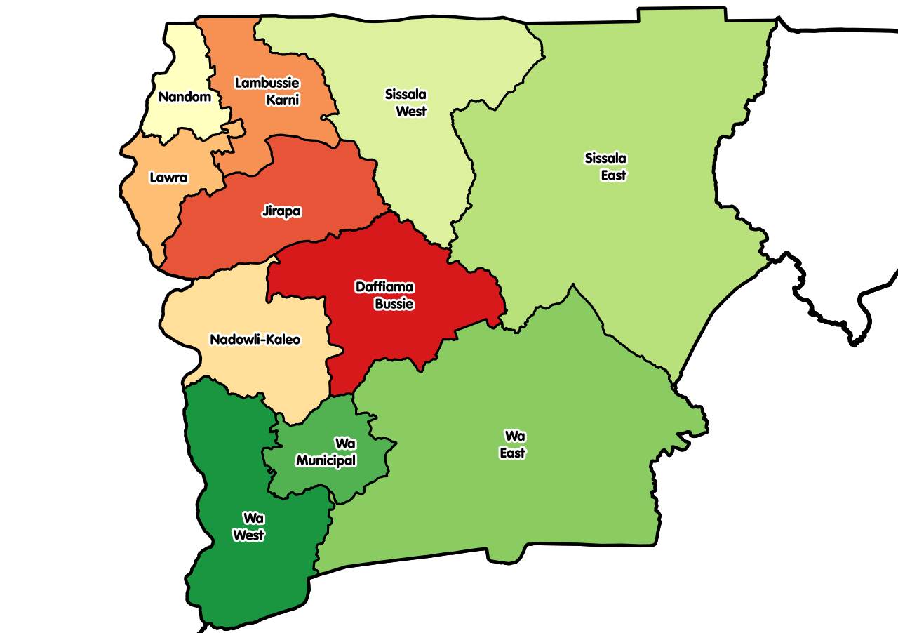 The Upper West Region districts
