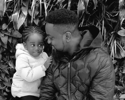 She is now a big girl – Ghanaians excited over latest photo of Sarkodie and his daughter