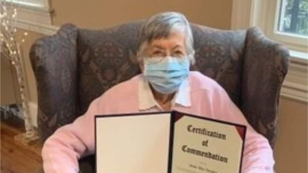 Rose has been voting for decades. Photo source: Yahoo Life